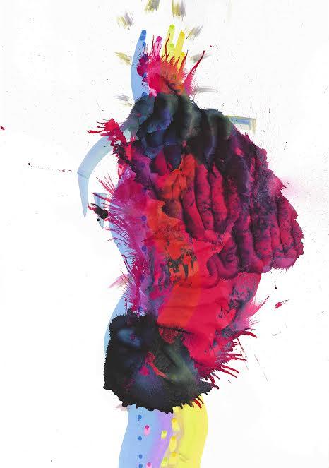 série 15, acrylique sur papiersans titre, 96,6 x 70cm